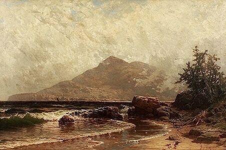 Alfred Thompson Bricher, 'Lifting Fog', ca. 1875