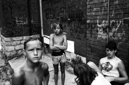 Stephen Shames, 'Three boys, Cincinnati', 1985