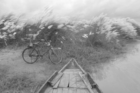 "Mohan Lal Majumder, 'Kans Grass, Boat Bicycle, Black and White Photography, Indian Artist ""In Stock""', 2010"