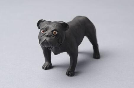 Wedgwood, 'Black Basalt Bulldog 2', 19th
