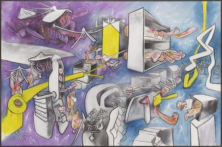 Roberto Matta, 'Flux de psycho-espace', 1973