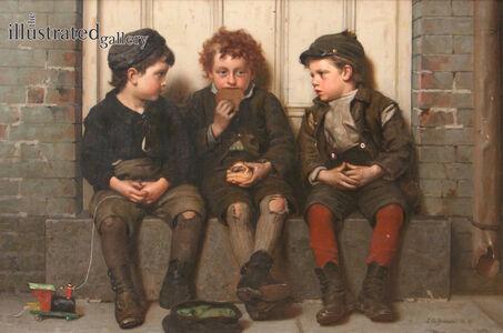 John George Brown, 'The Monopolist', 1885