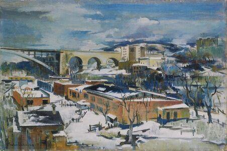 Preston Dickinson, 'Winter, Harlem River'