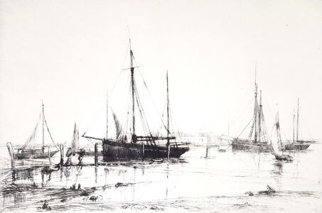 Aileen Mary Elliot, 'Crab Boats, Southampton Water', ca. 1925
