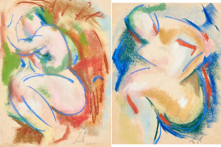 Leon Kelly, 'Two works of art:  Untitled (Nude); Untitled (Nude)'