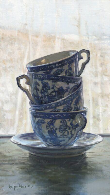 Gregory Block, 'Teacups', 2013, Painting, Oil, Gallery 1261