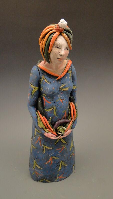 LINDA LEWIS, 'She talks healthy but she's really thinking about dessert', 2019, Sculpture, Slab built clay; slip, underglazes, oxides;  functional ceramic hinge, Maria Elena Kravetz
