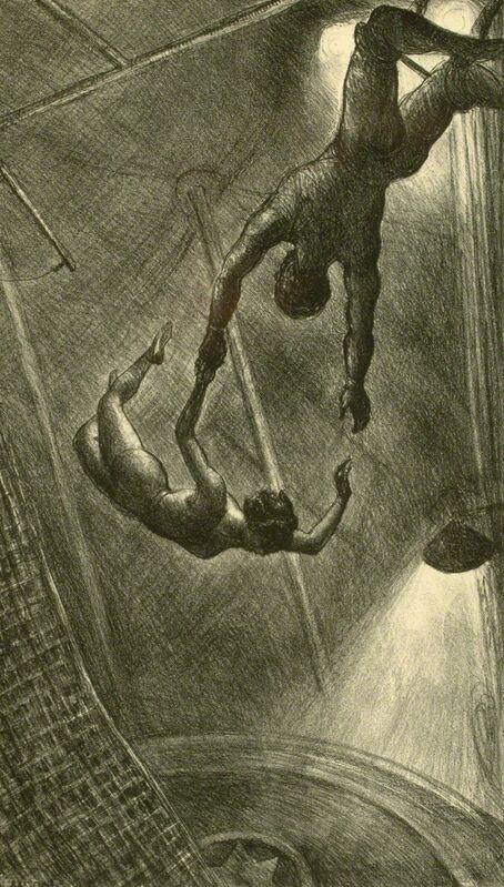 John Steuart Curry, 'The Missed Leap', 1934, Print, Lithograph, Kiechel Fine Art