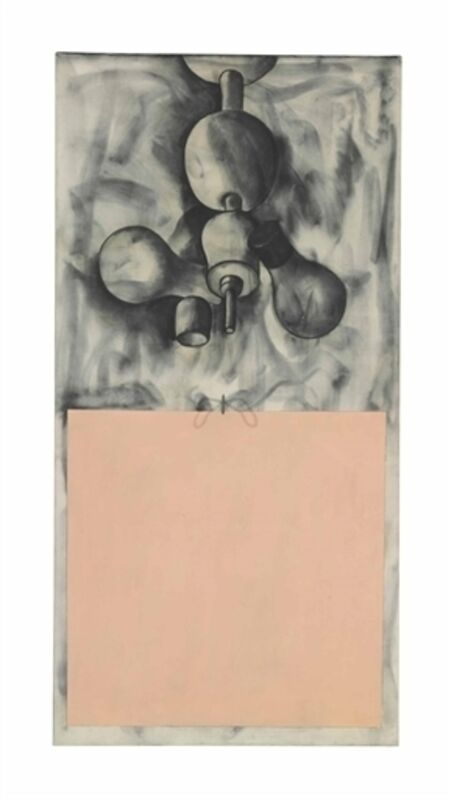 Jim Dine, 'Bedroom Lite over the Flesh Square', Oil, graphite and metal on canvas, Christie's