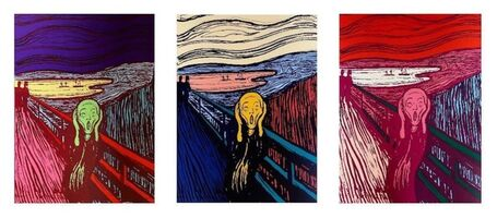 Andy Warhol, 'The Scream Suite (Sunday B. Morning), 3 Silkscreen Artworks', 1970-2020