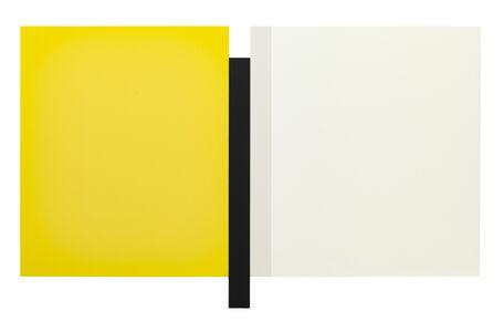 Scot Heywood, 'Sunyata – Yellow, Black, Canvas, White', 2016