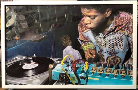 Ben Buchanan, 'Jean-Michel Basquiat DJing at Eric Goode's birthday, AREA, NYC', 2017/2019