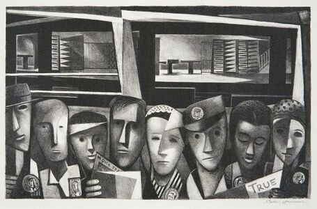 Benton Spruance, 'Subway Shift; The Second Front.', 1943