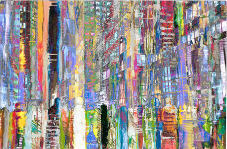 Frederick Hodder, '42nd Street & 6th Looking at Times Square', 2014