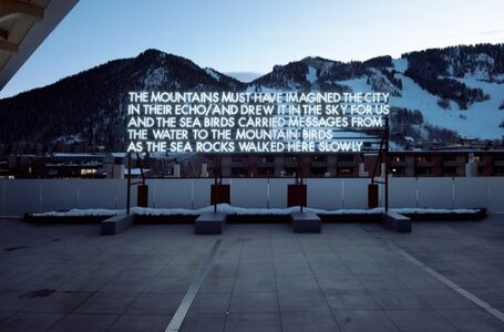 Robert Montgomery, 'The City in Their Echo', 2018