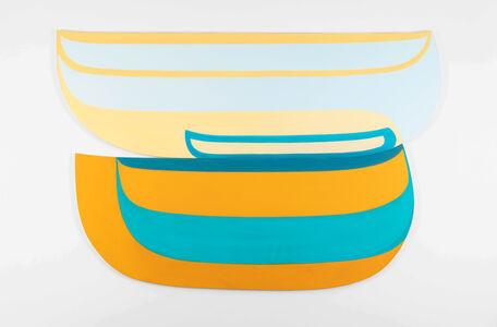 Joanna Pousette-Dart, 'Untitled (Blue & Gold)', 2018-19