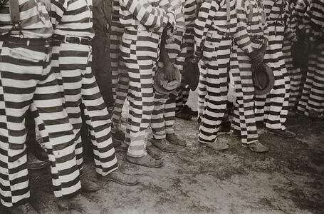 Jack Delano, 'Convicts from the Greene County prison camp at the funeral of their warden who was killed in an automobile accident, Georgia', 1941