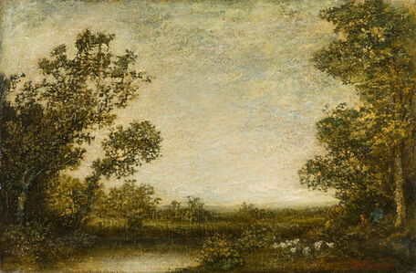 Ralph Albert Blakelock, 'Landscape with Shepherd'