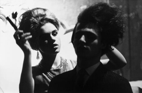 Billy Name, 'Edie Sedgwick Does Gerard Malanga's Hair in the Movie 'Haircut'', c. 1963/printed later