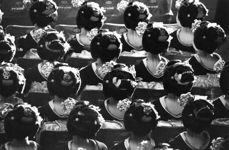 Kiichi Asano, 'Maikos Gathered All Together At The Commencement Ceremony', January 1956