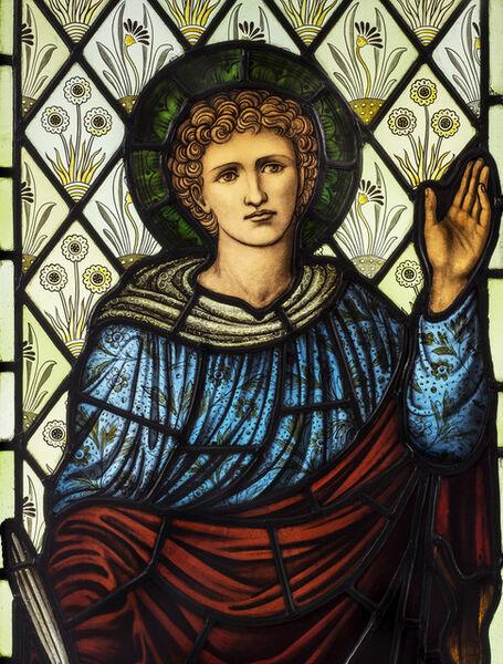 Sir Edward Burne-Jones, 'Saint Daniel ', Designed in 1875-manufactured in 1911