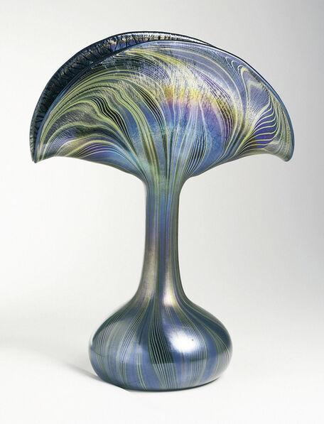 Louis Comfort Tiffany, 'Peacock vase', ca. 1901