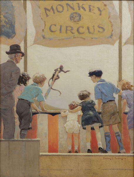 Victor Coleman Anderson, 'Monkey Circus', 1882-1937