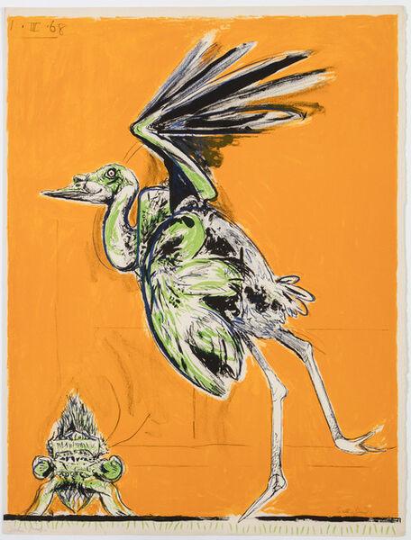 Graham Vivien Sutherland, 'Bird (about to take flight)', 1968