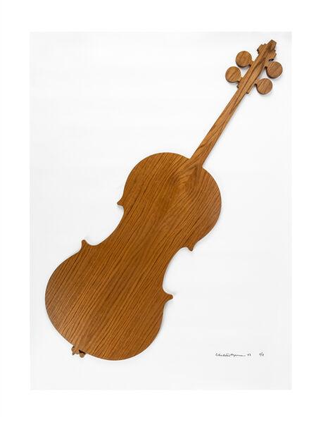 Charlotte Moorman, 'Oak wood cello', 1983