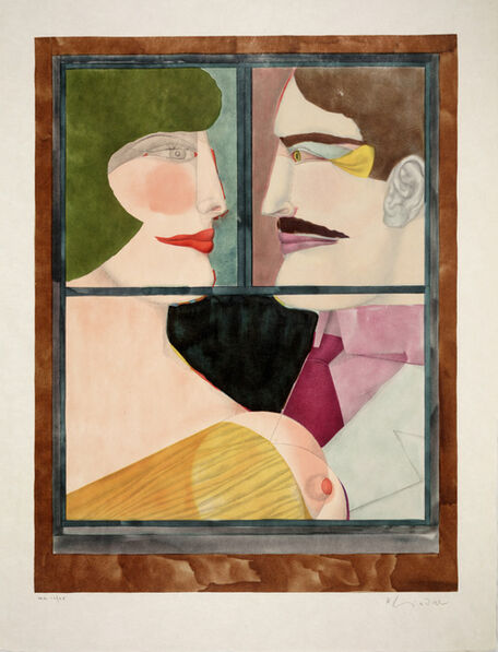 Richard Lindner, 'Washington Holiday from An American Portrait, Volume II: Not Songs of Loyalty Alone', 1975