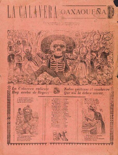 José Guadalupe Posada, 'La Calavera Oaxaqueña', 1907