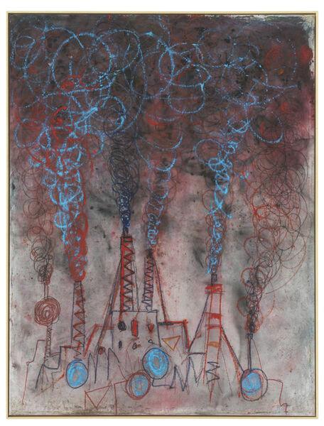 Andrej Dubravsky, 'Big factory with the blue reservoirs', 2019