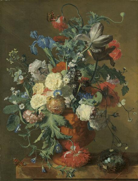 Jan van Huysum, 'Flowers in an Urn', ca. 1720