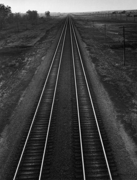 Andreas Feininger, 'Railroad, Nebraska', 1952