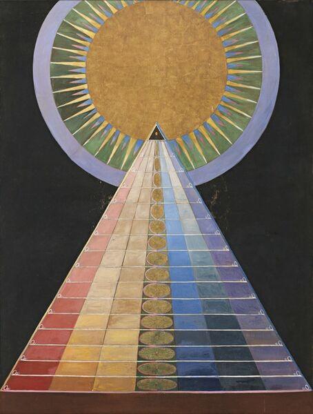 Hilma af Klint, 'Group X, No. 1, Altarpiece (Grupp X, nr 1, Altarbild),  from Altarpieces (Altarbilder)', 1915