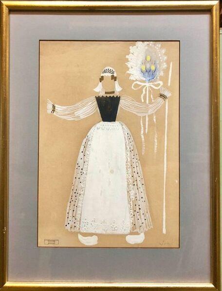 Marcel Vertes, 'Original Art Deco Theatre Costume Illustration Katinka Gouache Painting, Drawing', 1930-1939