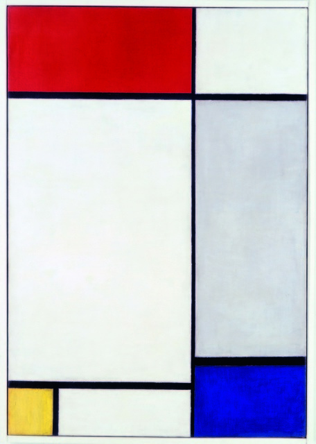 Piet Mondrian Composition With Red Yellow And Blue