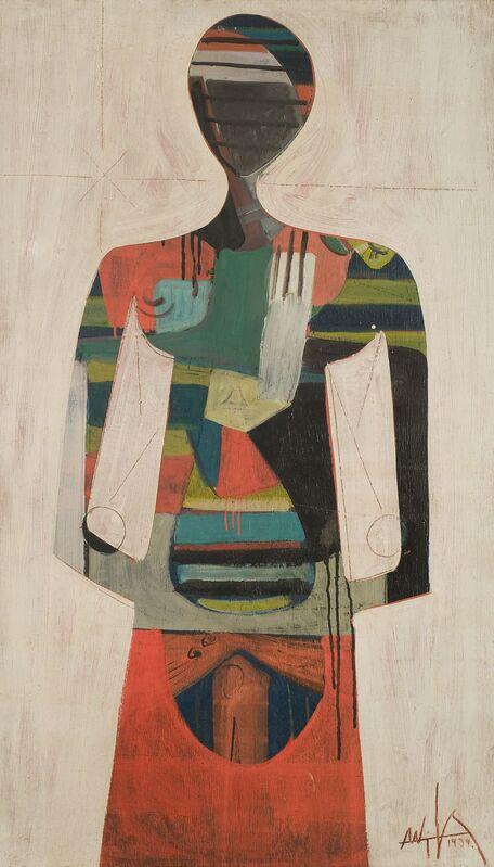 Wifredo Lam, 'Figure', 1939, Painting, Oil on panel, Centre Pompidou