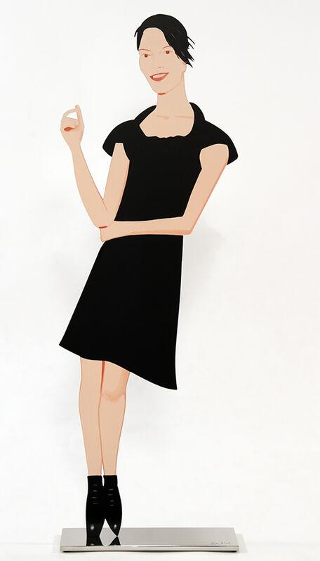 Alex Katz, 'Carmen (Black Dress Cut-Out)', 2017, Sculpture, Powder-coated aluminum, UV archival inks on both sides, mounted on white bronze base, Jim Kempner Fine Art
