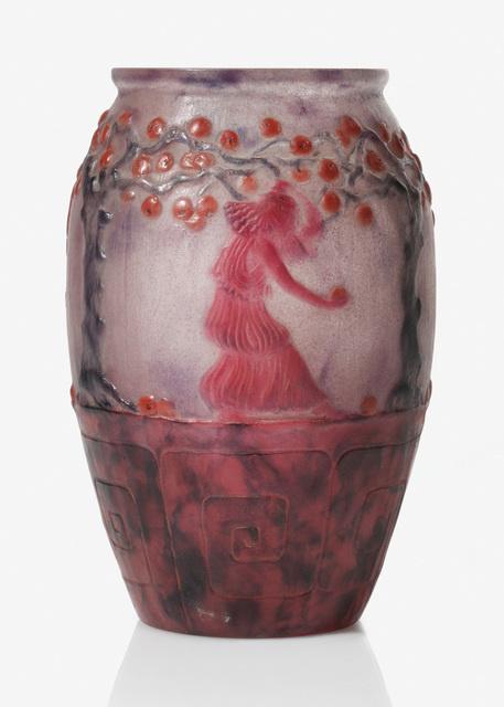 Gabriel argy rousseau jardin des hesperides vase for Jardin glass vases 7 in