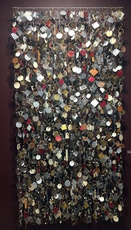 John Garrett, 'October Shimmer', 2016, Sculpture, Aluminum, nickel, copper, brass wire, painted steel and aluminum, mixed media, Duane Reed Gallery