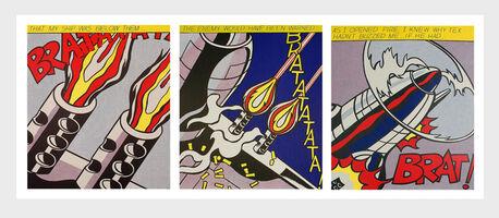 Roy Lichtenstein, 'Roy Lichtenstein As I Opened Fire set of 3 lithographic posters', ca. 2000