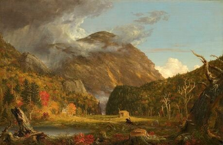 Thomas Cole, 'A View of the Mountain Pass Called the Notch of the White Mountains (Crawford Notch)', 1839