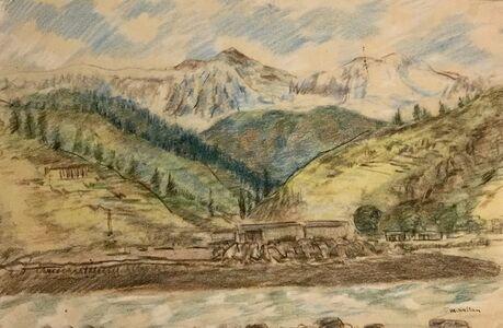 Sheikh Mohammad Sultan, 'Kashmir Landscape II', 1960s