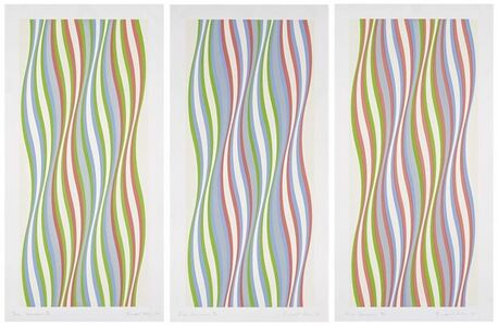 Bridget Riley, 'Green Dominance/Blue Dominance/Red Dominance', 1977