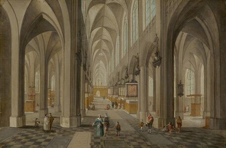 Peeter Neeffs, the elder, 'Antwerp Cathedral', ca. 1650/1655