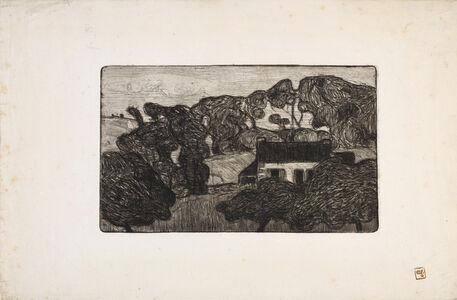 Armand Séguin, 'Ferme entourée d'Arbres (Farm surrounded by Trees)', 1893