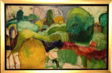 Julian Hatton, 'Modernist American Abstract Landscape Oil Painting', 20th Century