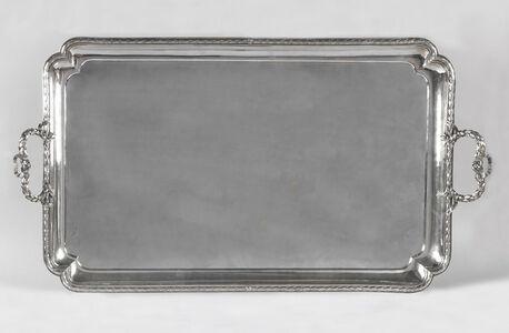 Valadier Luigi, 'Large rectangular silver serving tray', Rome-1783
