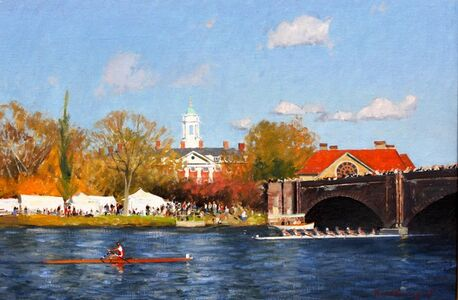 David Bareford, 'Racing on the Charles', ca. 2018